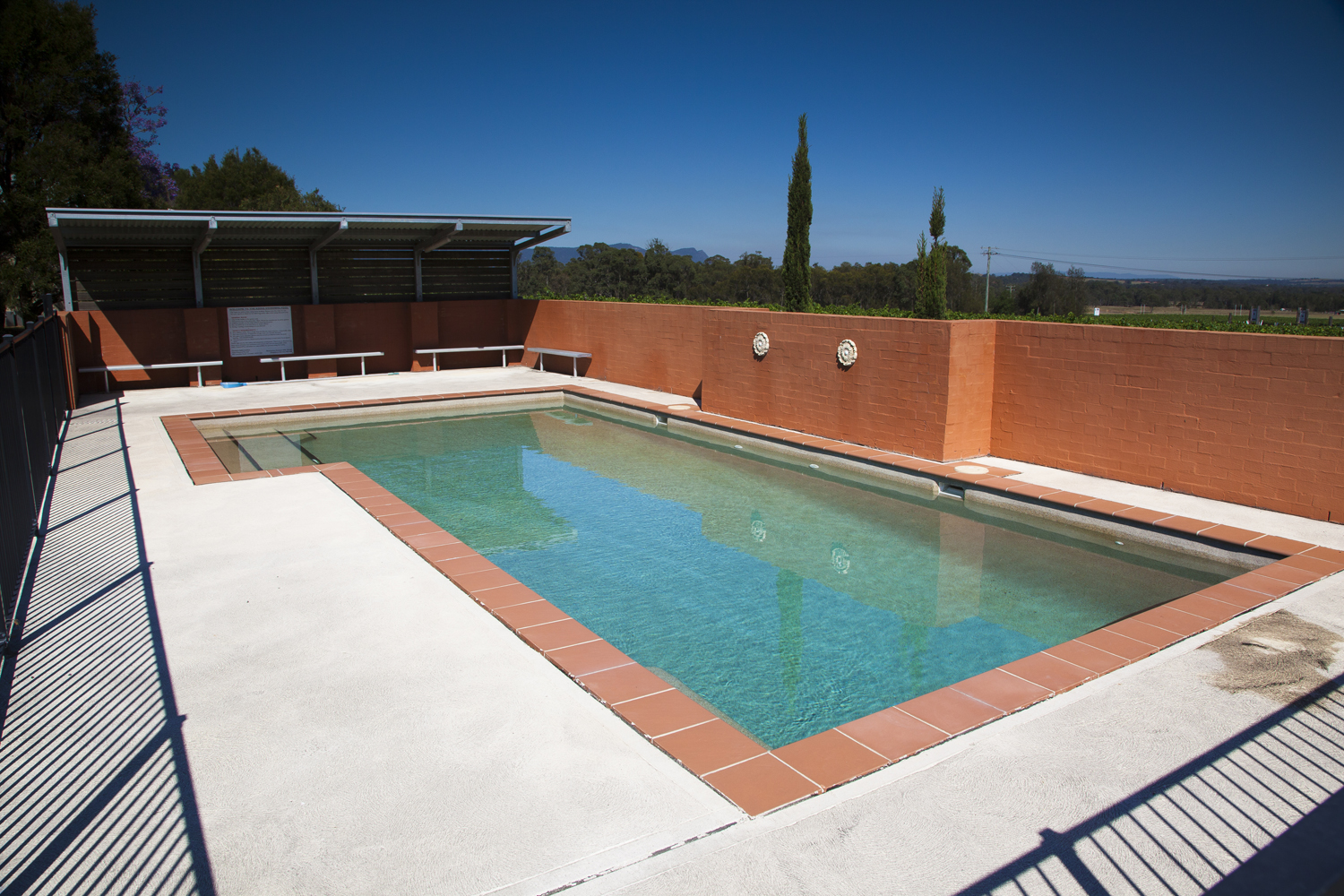accommodation with pool